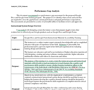 ISD - Assessment - Performance Gap Analysis.pdf