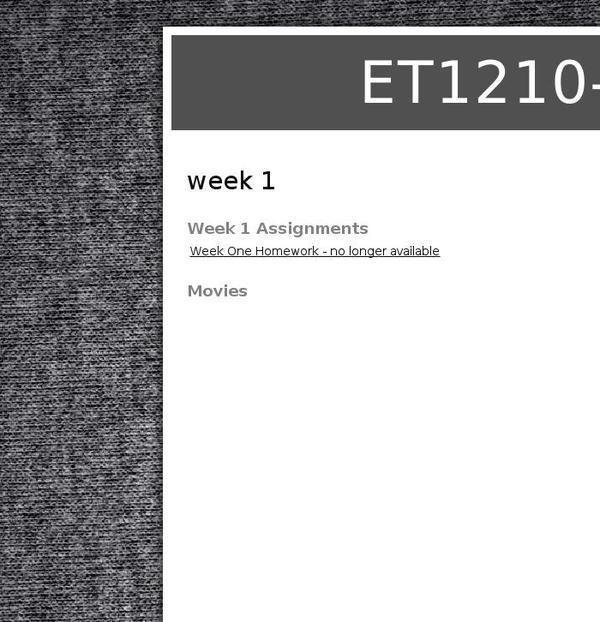 et1210 homework 1